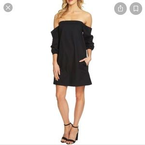1. State strapless dress w/sleeves